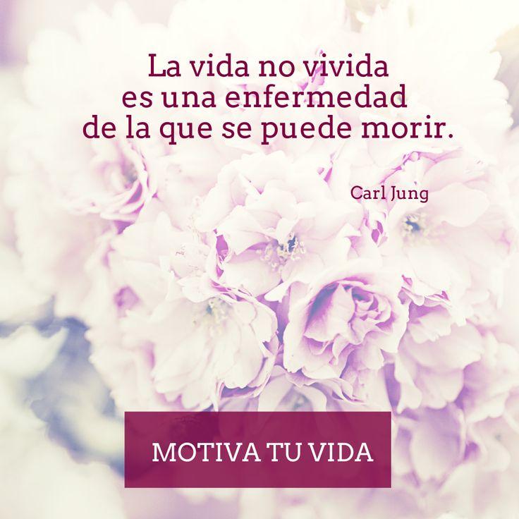La vida no vivida es una enfermedad de la que se puede morir... Carl Jung