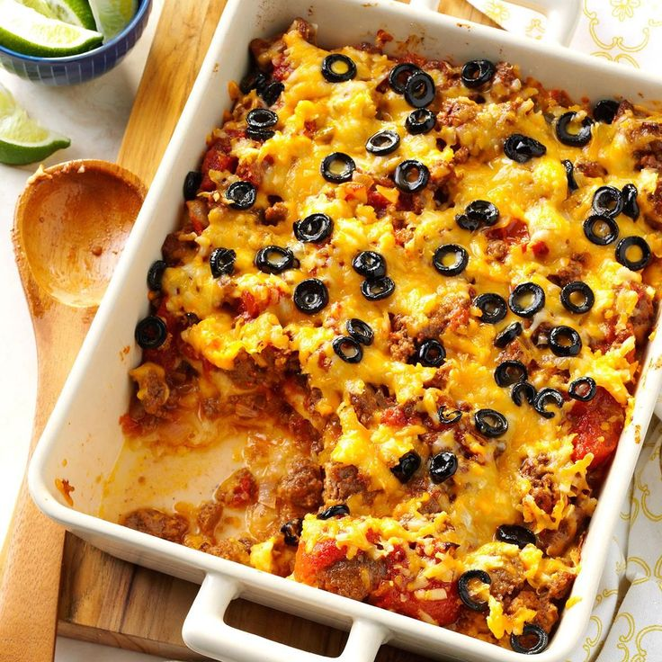 Tamale Pie Recipe -The amount of spice in this recipe is just right for my family, who prefers things on the mild side. Make it once with these measurements, then spice it up a little more if you like!—Ruth Aden, Polson, Montana