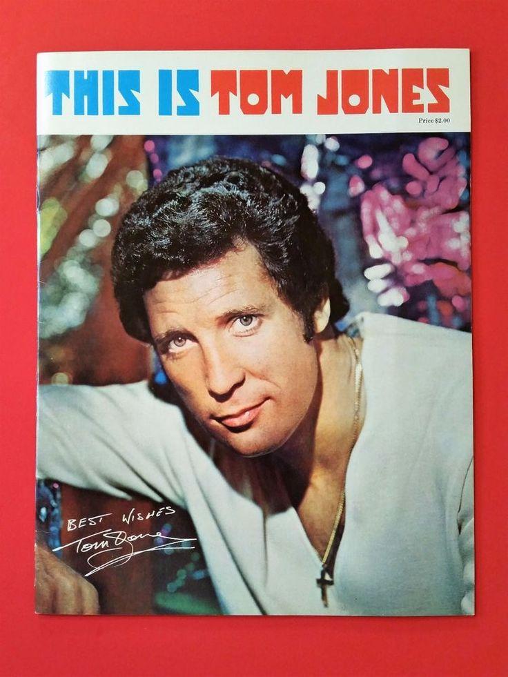 This is Tom Jones 1970 U.S. Tour Concert Program Music Memorabilia Book