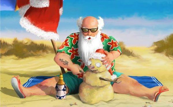 Christmas In Australia Santa.Diy Santa On Holiday Costume Beach Santa S Australian