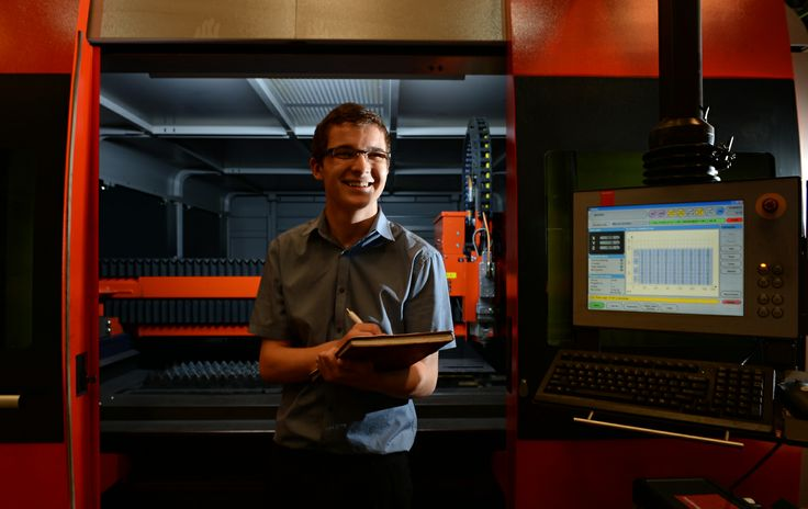 Matthew Phillips, apprentice at Midtherm Laser - specialists in laser cutting and forming.