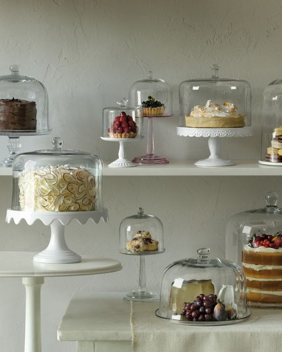 Everything looks better on a pedestal. Give your cakes, pies, and tarts the fancy display they deserve with these domed cake stands. Then browse on for our favorite summer dessert recipes, all are worthy of display. Shop the Martha Stewart Collection Domed Cake Stands, macys.com