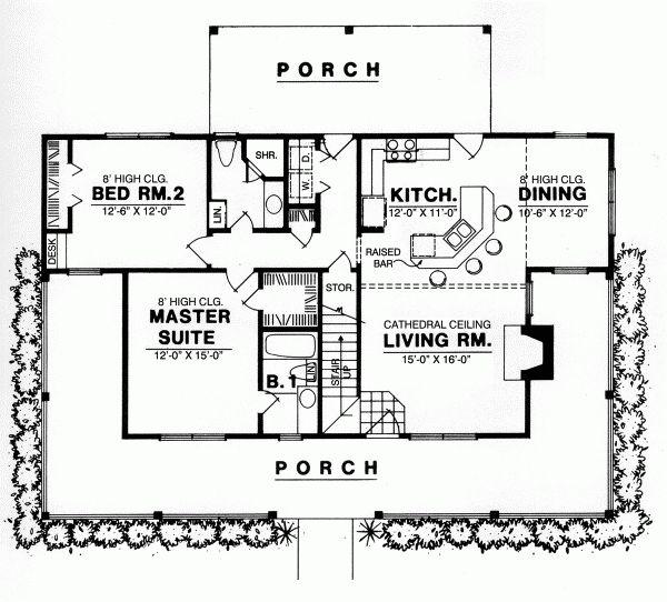 Best 25 1 bedroom house plans ideas on pinterest guest for Small 3 4 bathroom floor plans