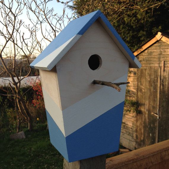 Wooden Bird Box with Twig Landing Perch