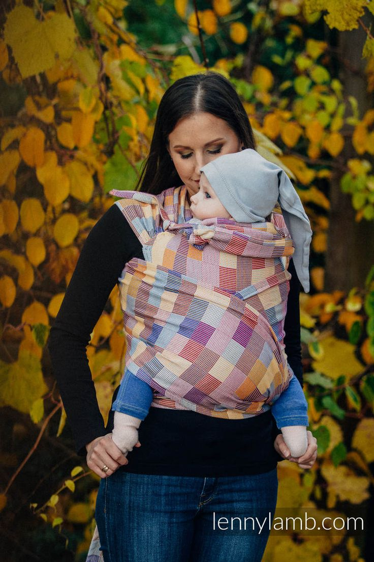 WRAP-TAI CARRIER WITH HOOD/ CRACKLE TWILL / 100% COTTON / QUARTET