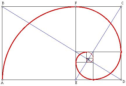 Phi, the Golden Mean, or Golden Ratio.  The most pleasing design to the eye found in all aspects of the universe and nature, from snail shells to flowers to the pattern of stars.  Coincidence, or a grand design?