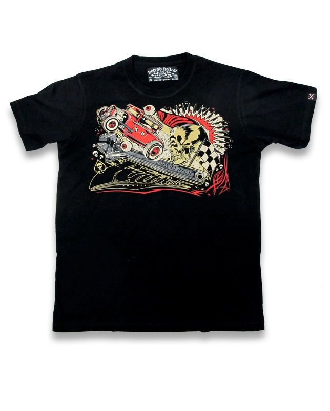 Hotrod Hellcat Herren RATROD T-Shirts.Tattoo,Biker,Oldschool,Custom Style