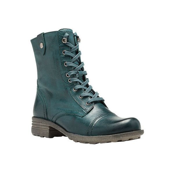 Women's Rockport Cobb Hill Bethany Boot ($125) ❤ liked on Polyvore featuring shoes, boots, casual, combat boots, vintage boots, military boots, zipper combat boots, leather military boots and army combat boots