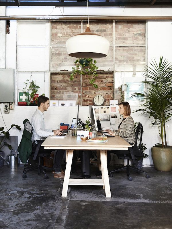 Kate Stokes and her partner Haslett Grounds in their Melbourne studio. Photo – Eve Wilson for The Design Files. -★-