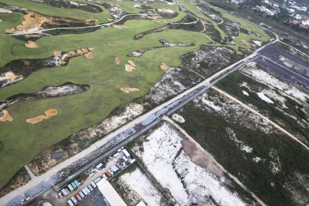 Brazil, Rio - 2017/ It's Been Just 7 Months Since The Rio Olympics, And This Is What The Venues Look Like Now. Olympic Golf Course partially degraded next to vacant lots.
