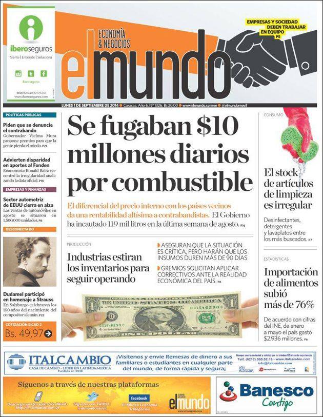 #Titulares de @ElMundoMovil Lunes 01/09/2014 #DesayunoInformativo #Noticias #Prensa #PrimeraPagina