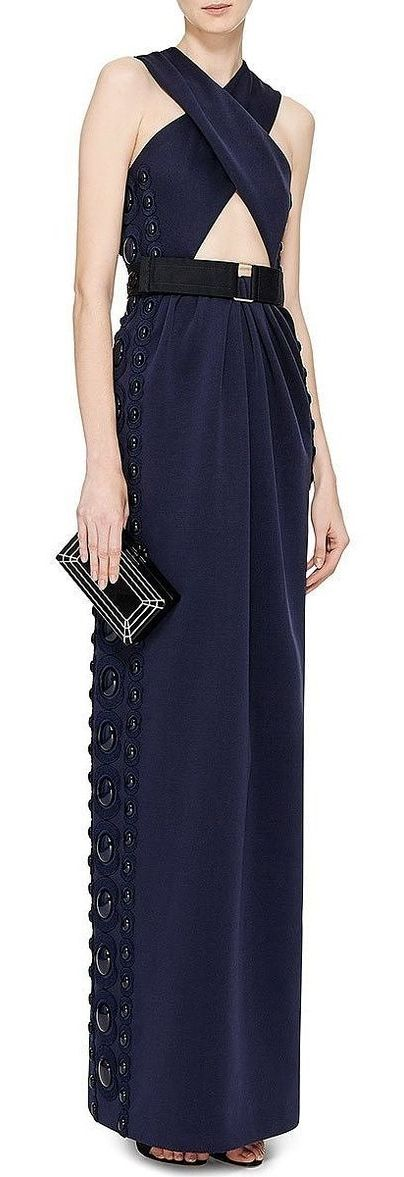 Belted Criss Cross Maxi Dress With Cut Out Detail by Marc Jacobs