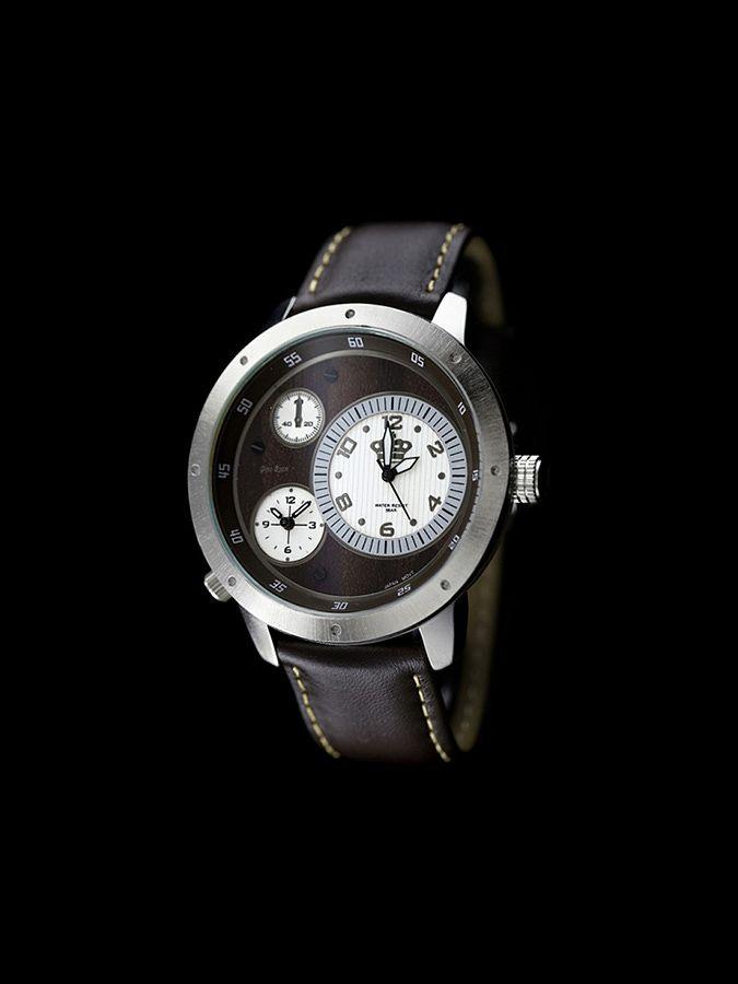Męski zegarek w brązowym kolorze ze skórzanym paskiem Gino Rossi 119 PLN   #limango #watch #leather #citizen #męska #moda