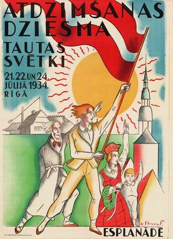 Mākslinieks Niklāvs Strunke. Litogrāfija ; Rīga, Latvia : P. Mantnieks, 1934.