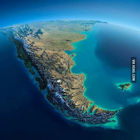 Chile from the space