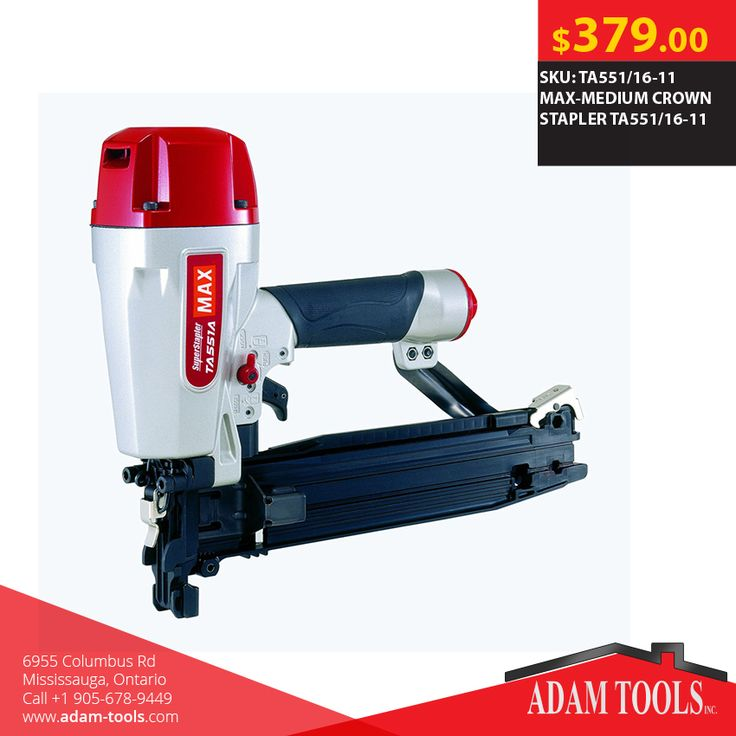 Looking for MAX-MEDIUM CROWN STAPLER TA551/16-11 Visit our website - http://www.adam-tools.com/max-medium-crown-stapler-ta551-16-11.html #canada #mississuaga #power_tools #building_supplies #adamtools #shop_online #buy_online #Powertools #tools #Crownstapler #MaxTools #Max