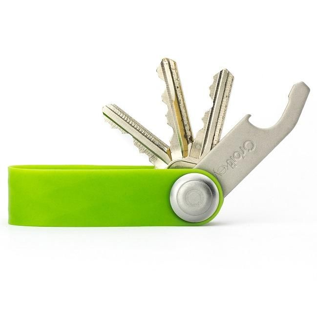 Make Designed Objects: Orbitkey Active - Green. Orbitkey is the first product by Melbourne based RMIT Industrial Design graduate Charles Ng. The compact key ring uses a locking mechanism that holds your keys together eliminating any rattling and stopping them from ruining your pockets or the inside of your bag. Store up to 8 standard keys (2mm thick with a flat profile) with the Orbitkey and if you have a car key or remote you can easily add it with the included...Read more @ Make
