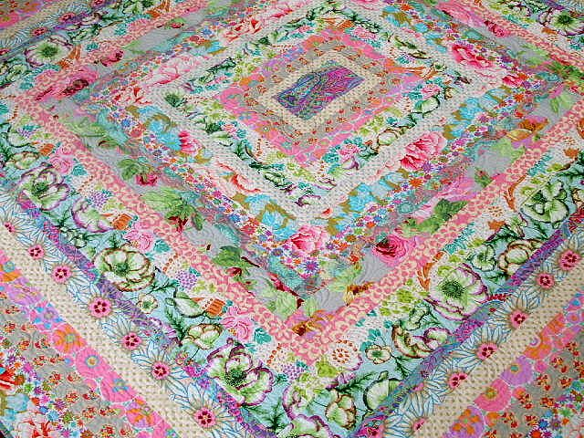 Kaffe Fassett Icecream Quilt by Cabbage Quilts, via Flickr--so pretty for spring and very easy