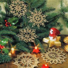 Professione Donna: Speciale Natale: Fiocchi di Natale dorati con schema