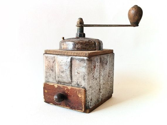 Antique French Coffee Grinder Peugeot Freres by Lunartics on Etsy