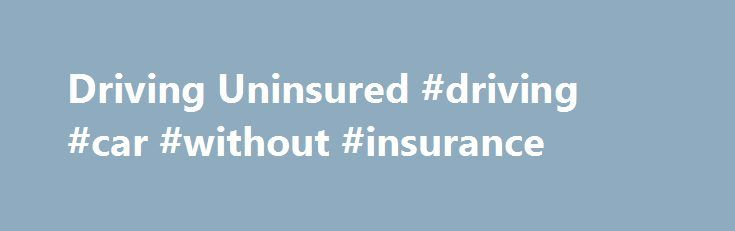 Driving Uninsured #driving #car #without #insurance http://mauritius.remmont.com/driving-uninsured-driving-car-without-insurance/  # No Insurance Taxi Driver No Insurance Offence Rated 5* Sept 2016 As a taxi driver, accidentally caught without insurance due to an admin oversight, my job was at risk. You managed to negotiate a 14 day discretionary ban and more importantly no points which would Absolute Legend Rated 5* Sept 2016 Dear Rachel, You are an absolute legend! Thank you for everything…