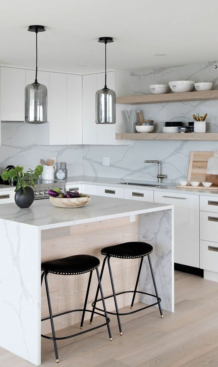 In Designing Kitchens I Believe In The Adage Of Form Follows Function It Is Im Modern Kitchen Renovation Kitchen Remodel Small Modern White Kitchen Island