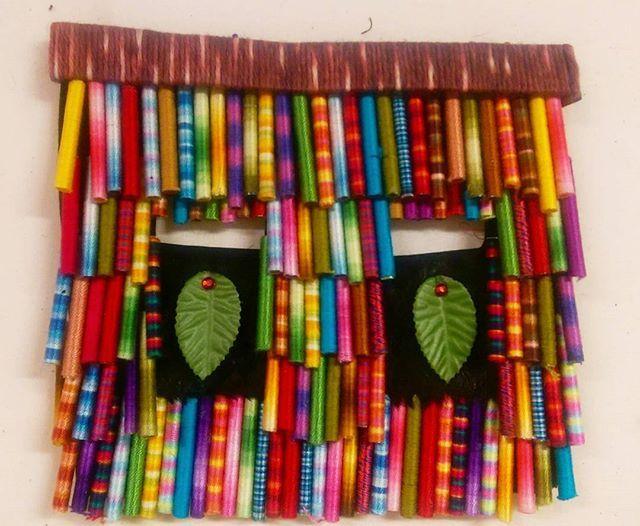 A mask. . . . #textileart #colorgasm #sewing #contemporaryart #new #art #eatenkate #embroidery #studiolife #contemporarycraft #stitching #sweden #crafts #konsthantverk #threads #stitchersofinstagram #mask #talisman #swedish #fiberart #fiberartsweden #needlecraft #konst #kunst #taide #borduren #broderi #dutchartist #dutchart #serious