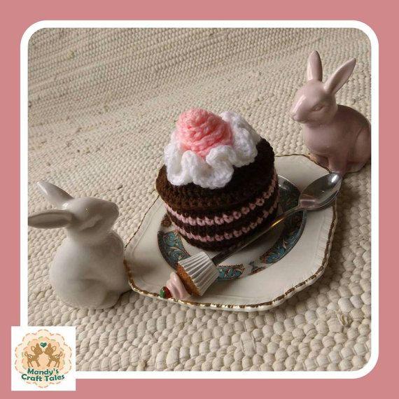 Crochet Cake Fake Cake Faux Cake Mini Crochet Cake