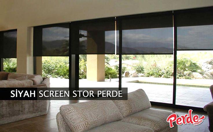 Siyah Screen Stor Perde Screen perdeler güneş kırıcı özelliği ve sade görünümü ile genellikle ofis ortamları için tercih edilir. #siyah #screen #stor #perde