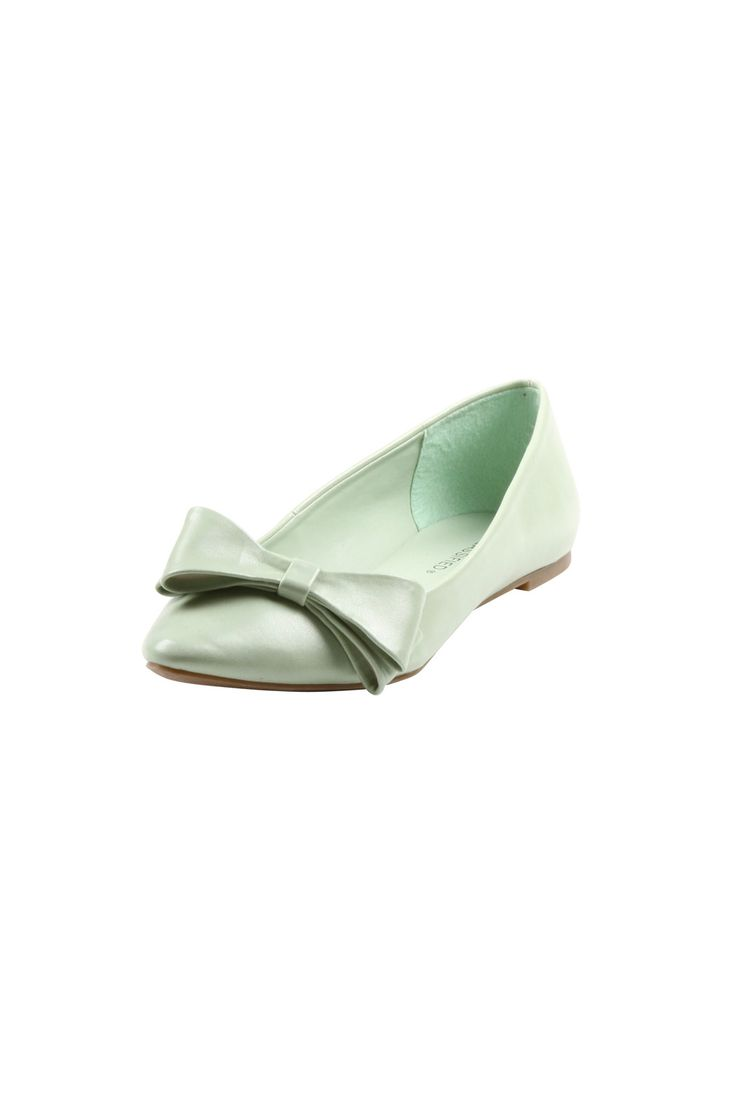 Classified City Minty Bow Flats