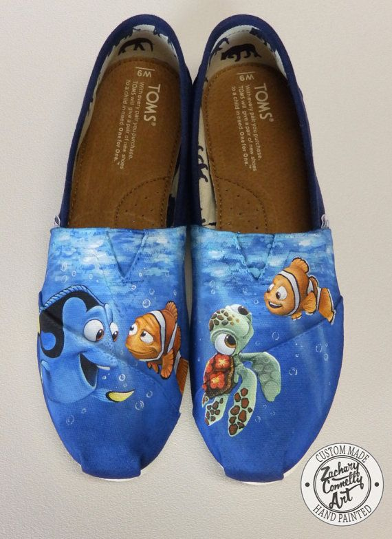 Custom Finding Nemo Toms Shoes by ZacharyConnellyArt
