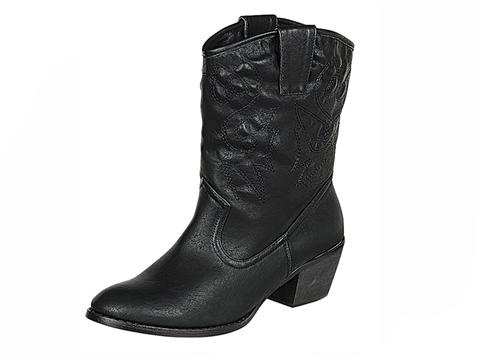 Vegan Shoes & Bags: Out West Cowboy Boot in Black