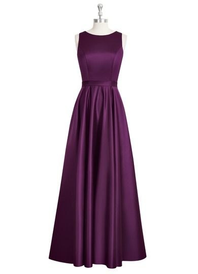 AZAZIE JAKAYLA. Fun and flirty, this elegant satin bridesmaid dress is appropriate for any wedding from the beach to the church. #Bridesmaid #Wedding #CustomDresses #AZAZIE