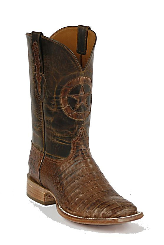 Black Jack Caiman Belly Cowboy Boots - Mens Exotic Western Boots
