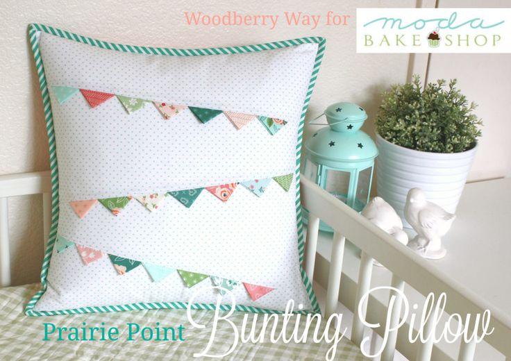 Prairie Point bunting pillow pattern, Moda Bake Shop
