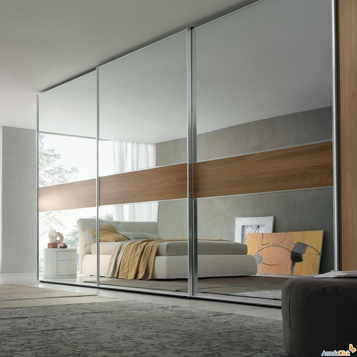 SLIDING WARDROBES - Google Search THIS MIRROR AND WOOD LOOK CAN BE MADE IN THE GUEST ROOM REGUKAR DOOR? WILL LOOK NICE INSTEAD OF ALL MIRROR