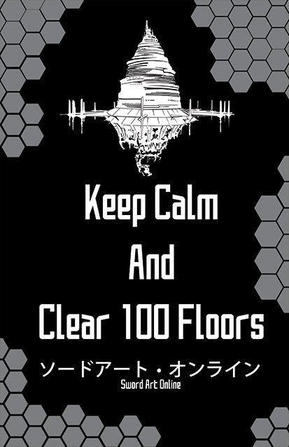 Sword Art Online SAO Keep Calm Print 11x17 by BenjinxDesigns, $10.00: