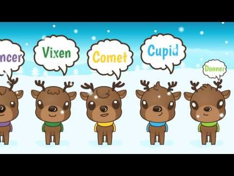 9 Little Reindeer song video for Christmas!  Great for Preschool and Kindergarten. #christmas songs #preschool