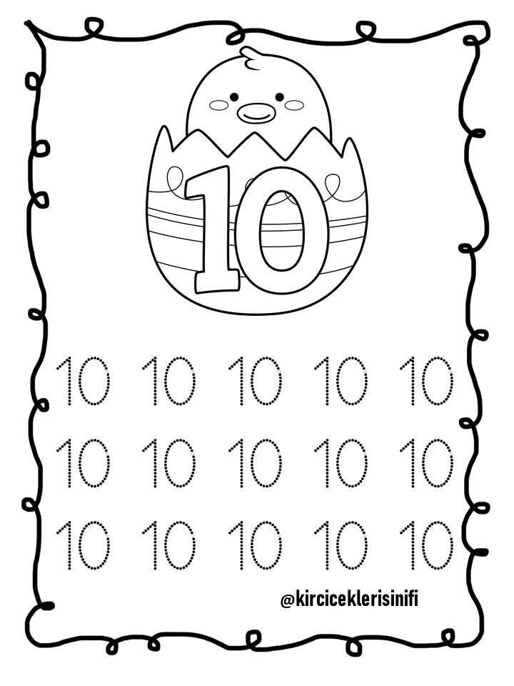 10 Sayisi Okul Matematik Anaokulu Matematigi