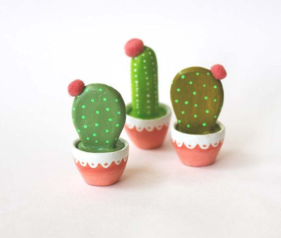 Cactus art Gift for gardeners Hand sculpted by sweetbestiary