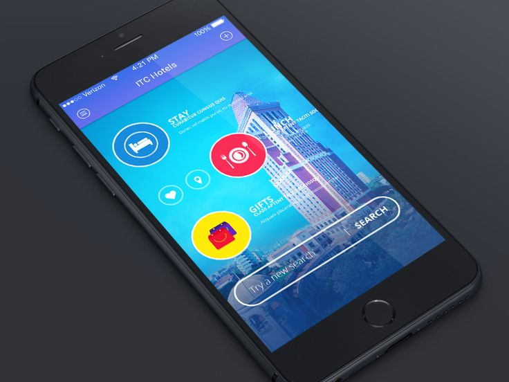 ITC Hotel Mobile App Concept