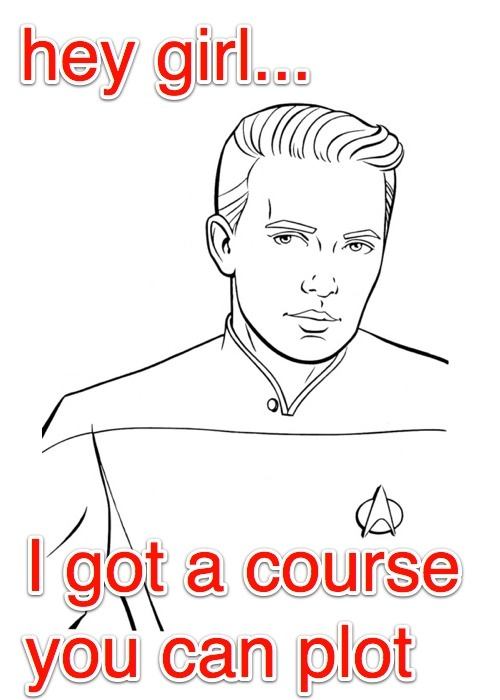 """Twitter / zperk: @wilw """"Hey Girl... I got a course you can plot: Fun Stuff, Hey Girl, Geeky Obsessions, Wilw Hey, Rainy Days, Geeky Stuff, Awesome Stuff"""