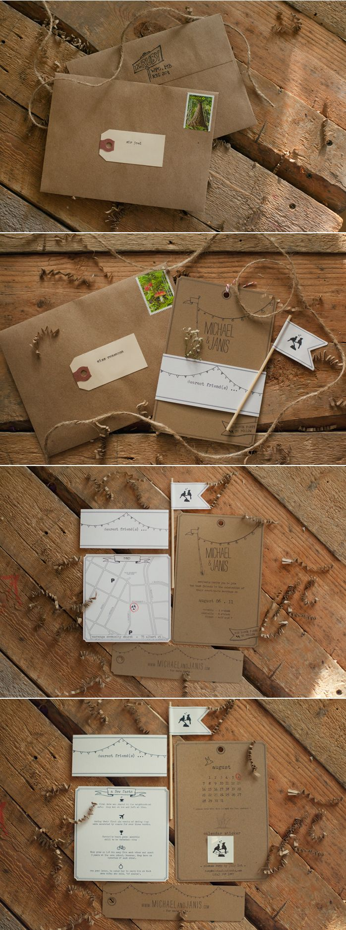 I love the simplicity of these invites and something you could easily do yourself.