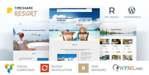 Timeshare Single Property Resort Wordpress Theme Columns4 Bootstrap Fortunecreations Hotel Bo Timeshare Free Wordpress Themes Wordpress Theme