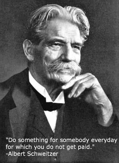 Physician, Musician, Author, Minister and Missionary, Albert Schweitzer.  One of my lifelong heroes.