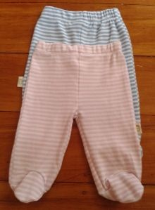 Pureborn Organic Trousers - Footed - Buy 2, get 2nd pair 1/2 price