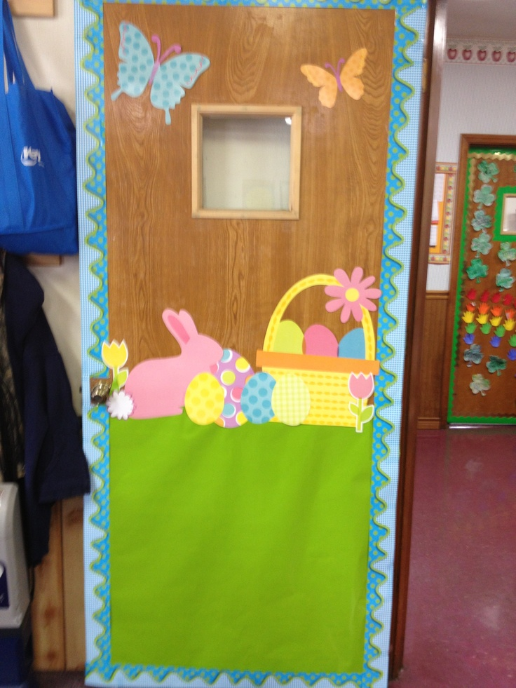 Classroom Easter Ideas : Easter classroom door i created decoration