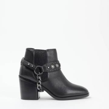 Senso YANI I Chelsea Harness Boot Ebony Grained Calf