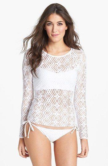 Must have for summer. Becca Crochet Rashguard   Nordstrom