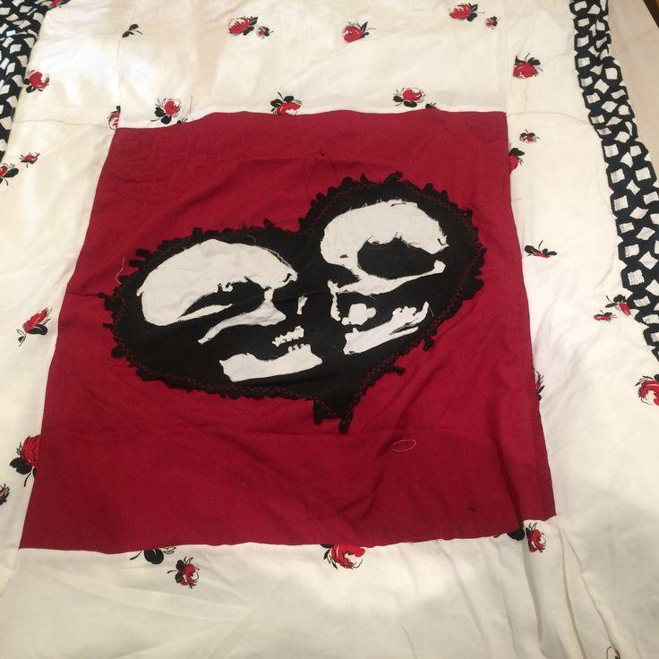 Skull quilt I'm making for myself!